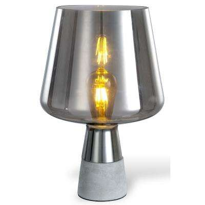 Chico 12.5 in. Amber and Grey Table Lamp with Concrete Base