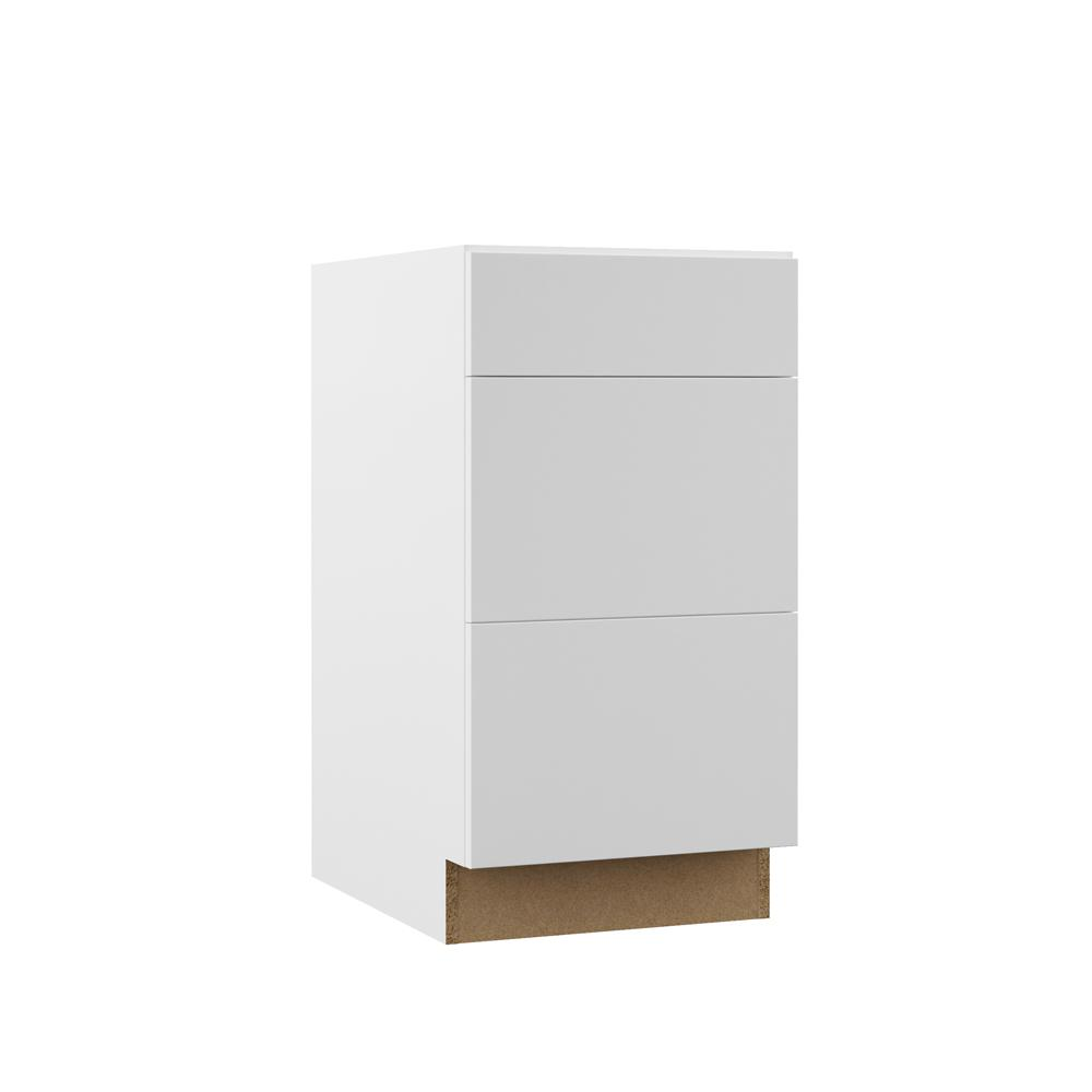 Edgeley Assembled 18x34.5x23.75 in. Drawer Base Kitchen Cabinet in White