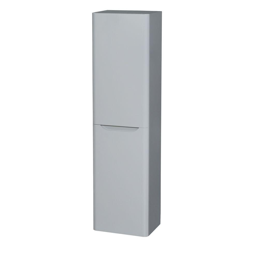 Wyndham collection murano 15 3 4 in w x 59 in h x 12 in d bathroom storage wall cabinet in for Wyndham bathroom wall cabinet