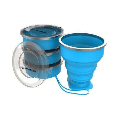6 oz. Collapsible Travel Cups in Blue (4-Pack)