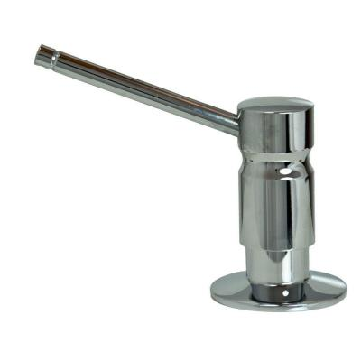Solid Brass Soap/Lotion Dispenser in Polished Chrome
