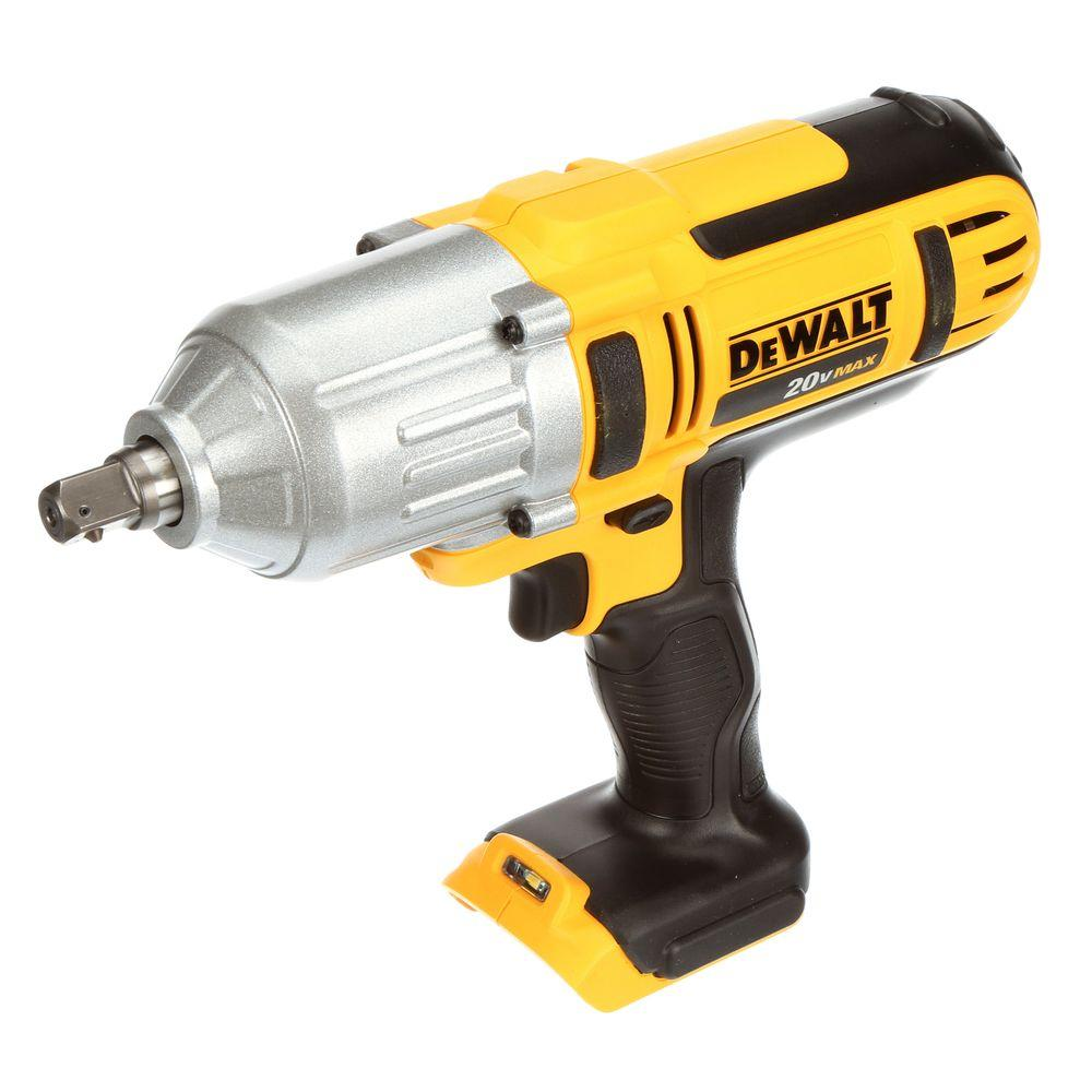 Dewalt 20 Volt Max Lithium Ion Cordless 1 2 In High Torque