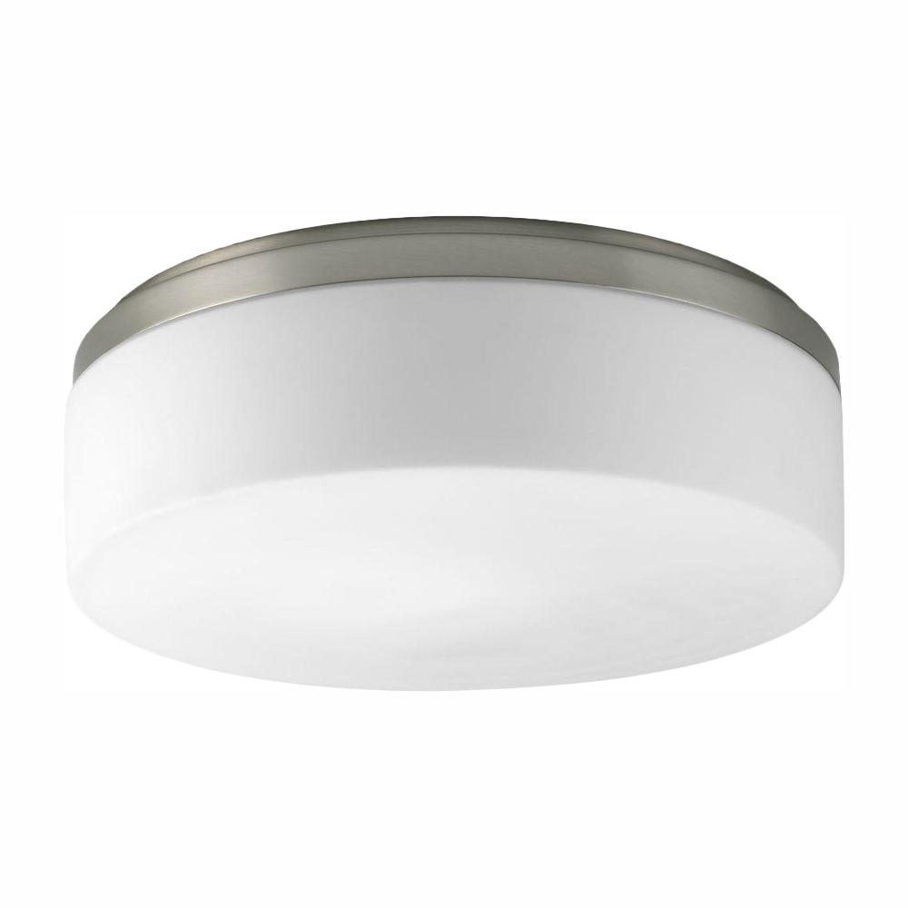 Progress Lighting Maier Collection 2 Light Brushed Nickel Flush Mount With Opal Etched Gl