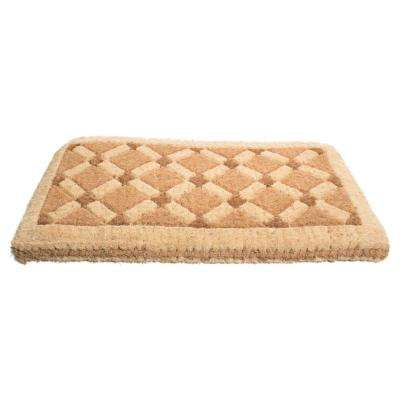 Traditional Coir Mat, Cross Board, 47 in. x 18 in. Natural Coconut Husk Doormat