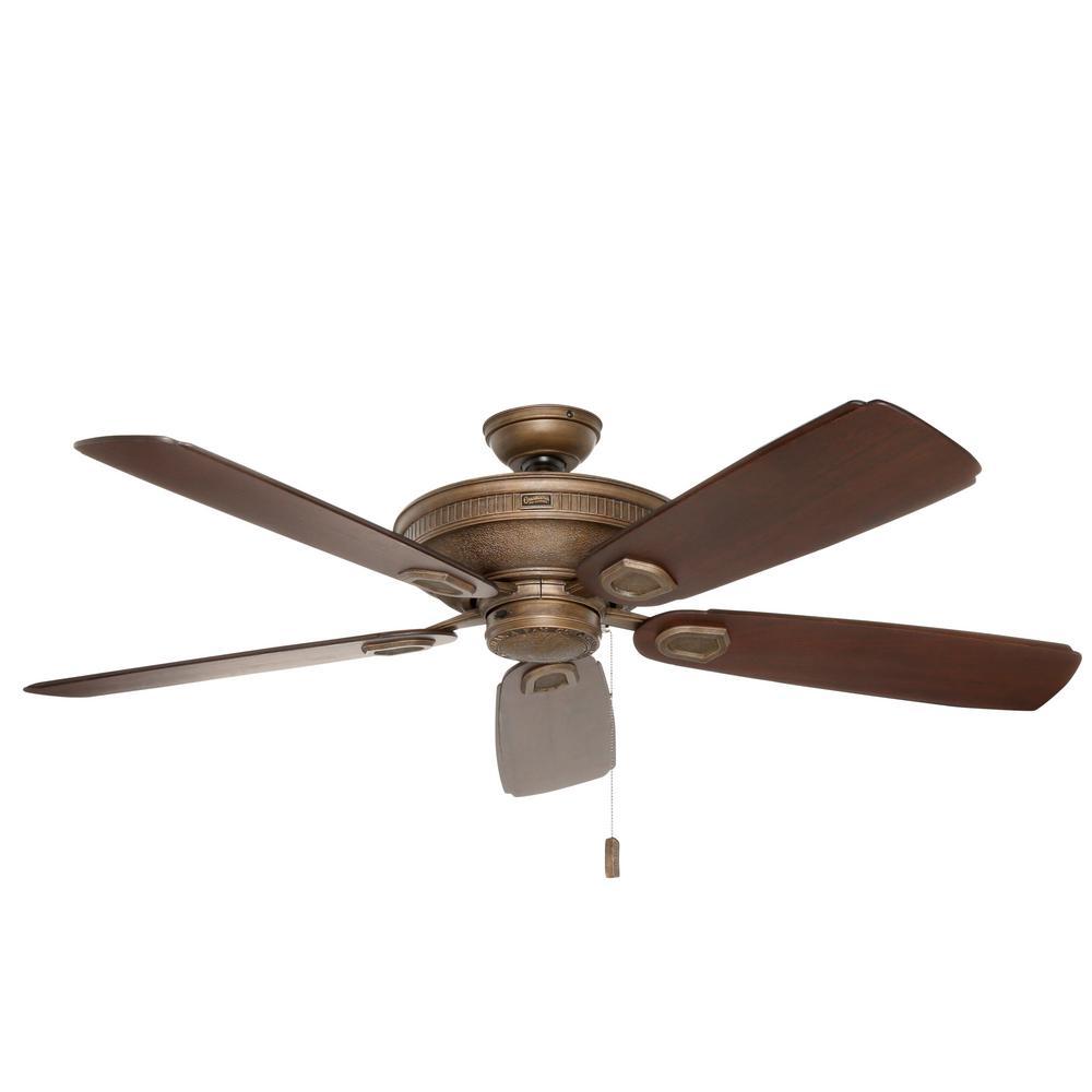 Heritage 60 in. Indoor/Outdoor Aged Bronze Ceiling Fan