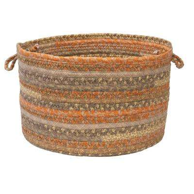 Martin 18 in. x 18 in. x 12 in. Round Fabric Basket Rusted Vine