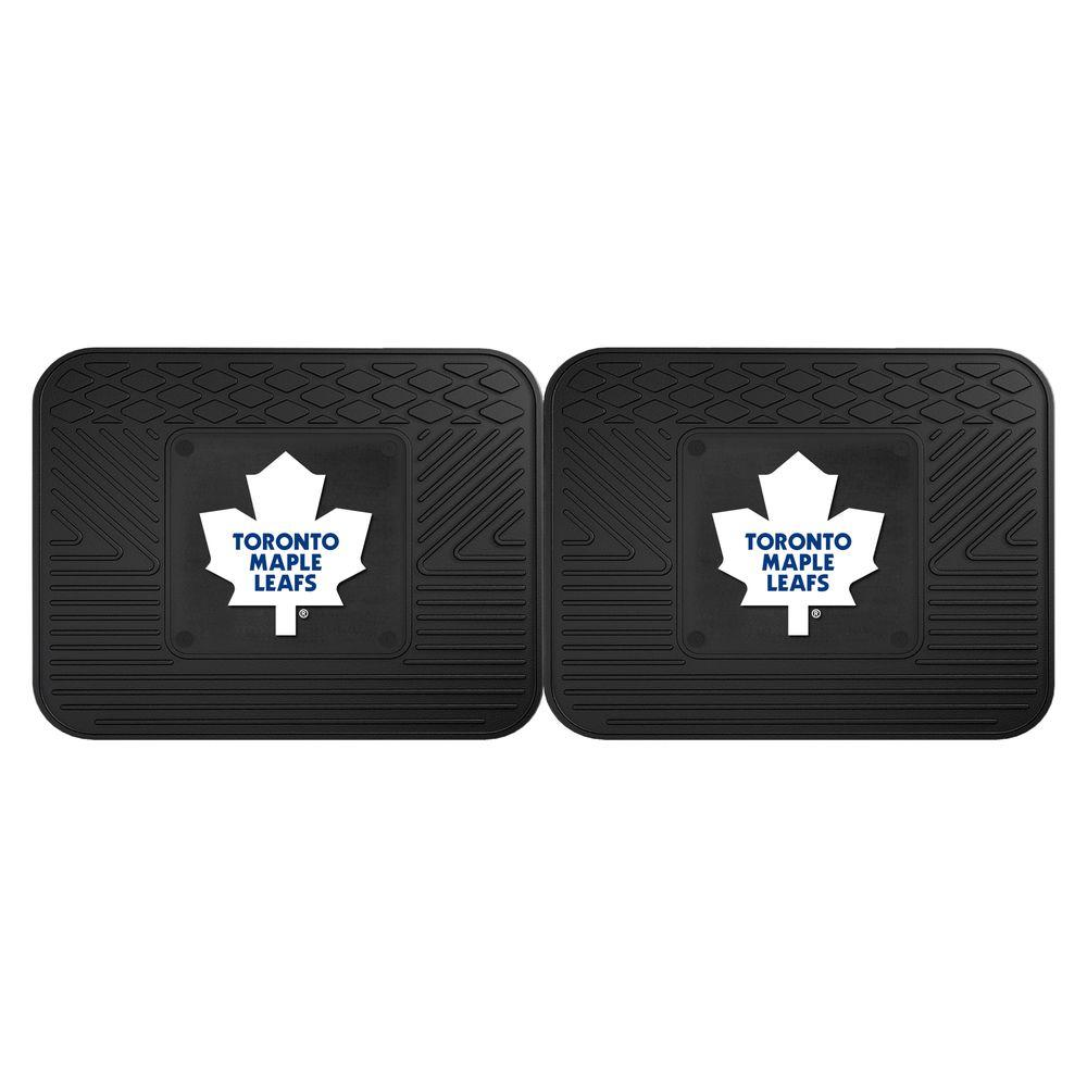 Fanmats Nhl Toronto Maple Leafs Black Heavy Duty 14 In X