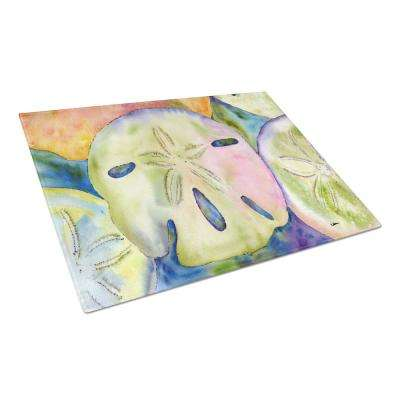 Sand Dollar Tempered Glass Cutting Board
