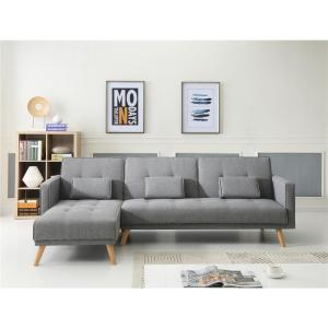 Gray Sectional Sofa Bed Set 73041GY - The Home Depot