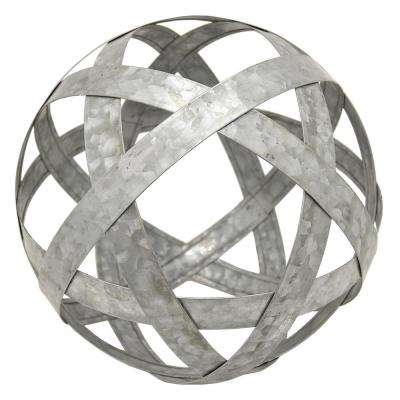 9 in. Metal Orb