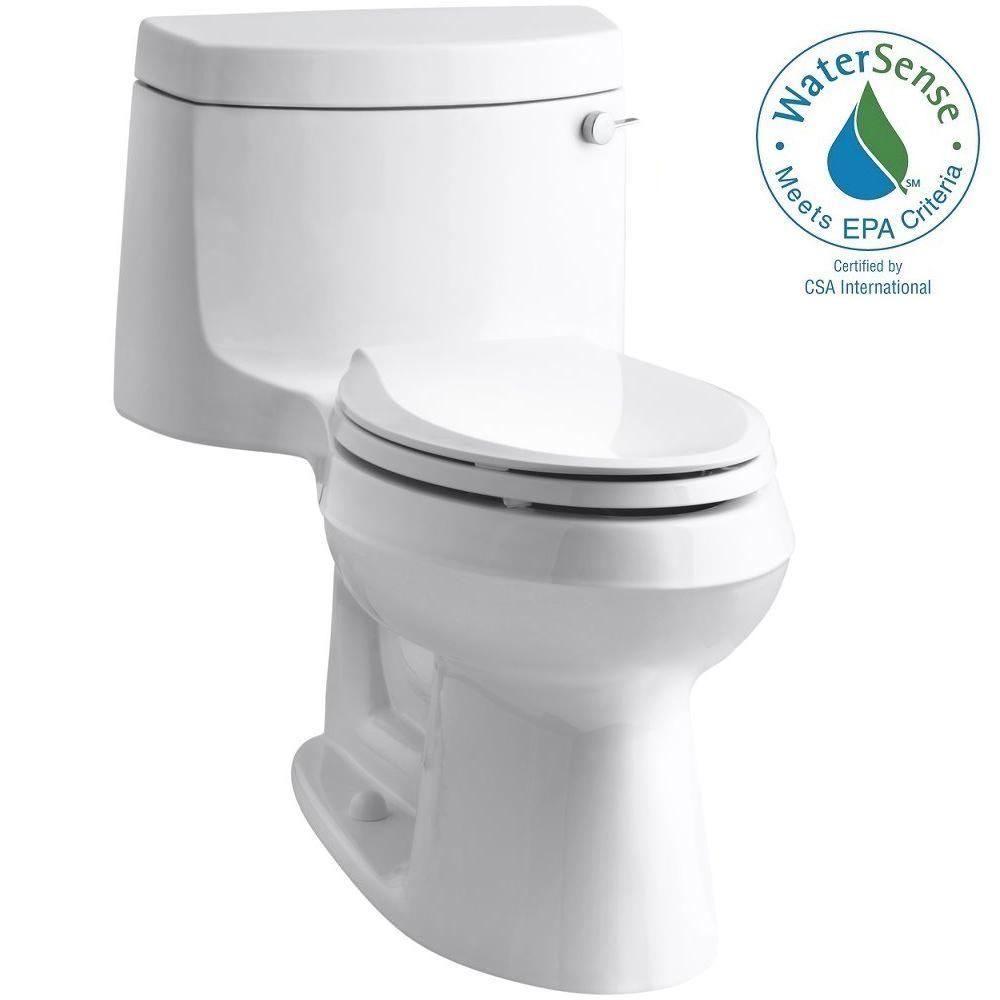 Cimarron 1-Piece 1.28 GPF Single Flush Elongated Toilet with AquaPiston Flush