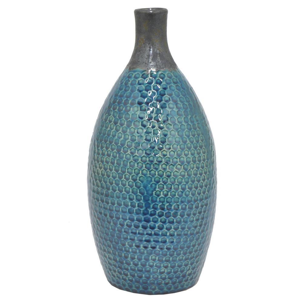 Glazed 2-Toned Ceramic Decorative Vase