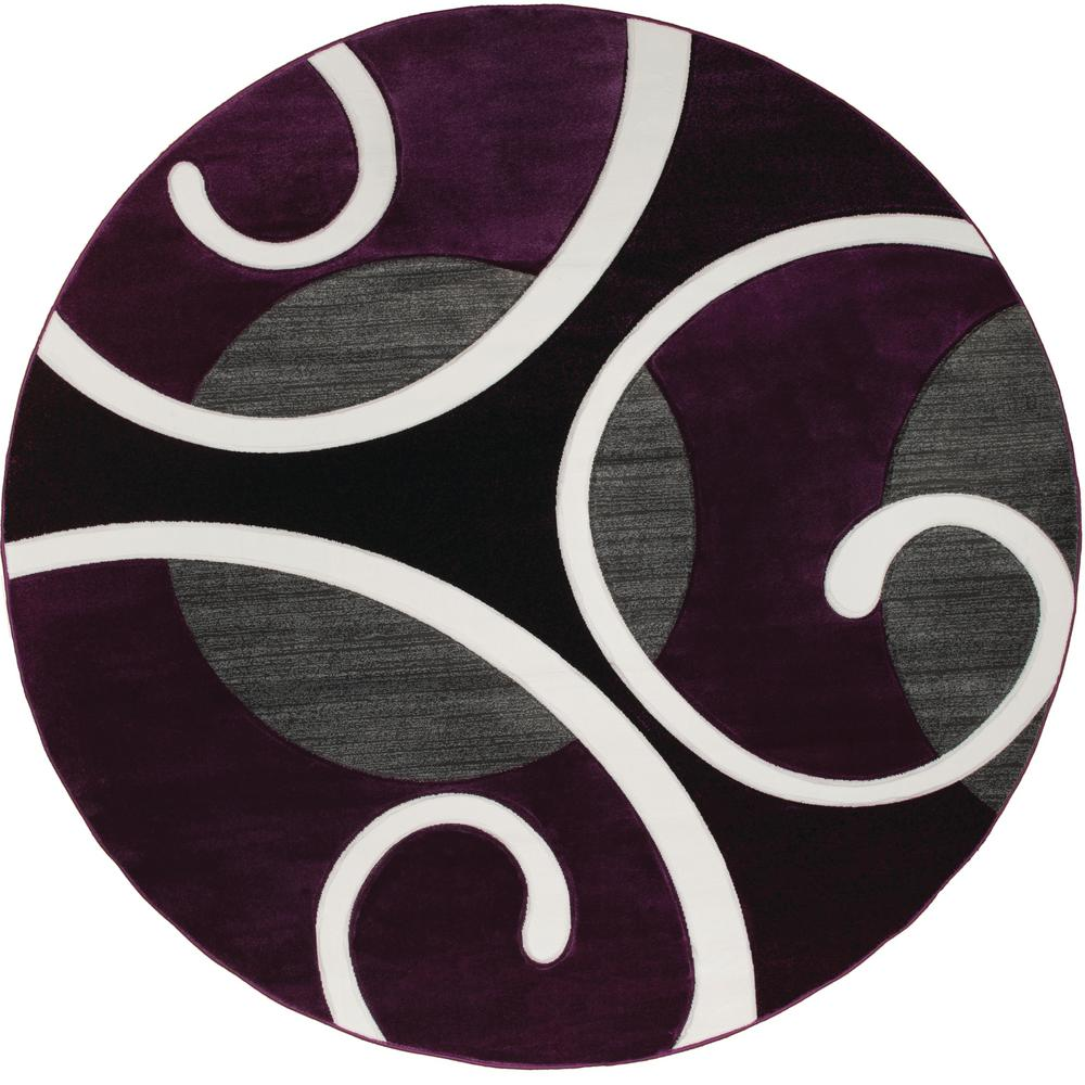 Bristol Riley Plum 7 Ft 10 In X Round Rug