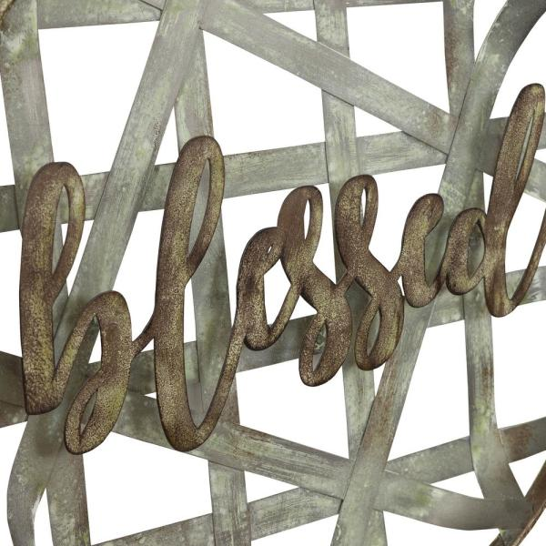 Aspire Home Accents Blessed Metal Rustic Wall Decor 7296 The Home Depot