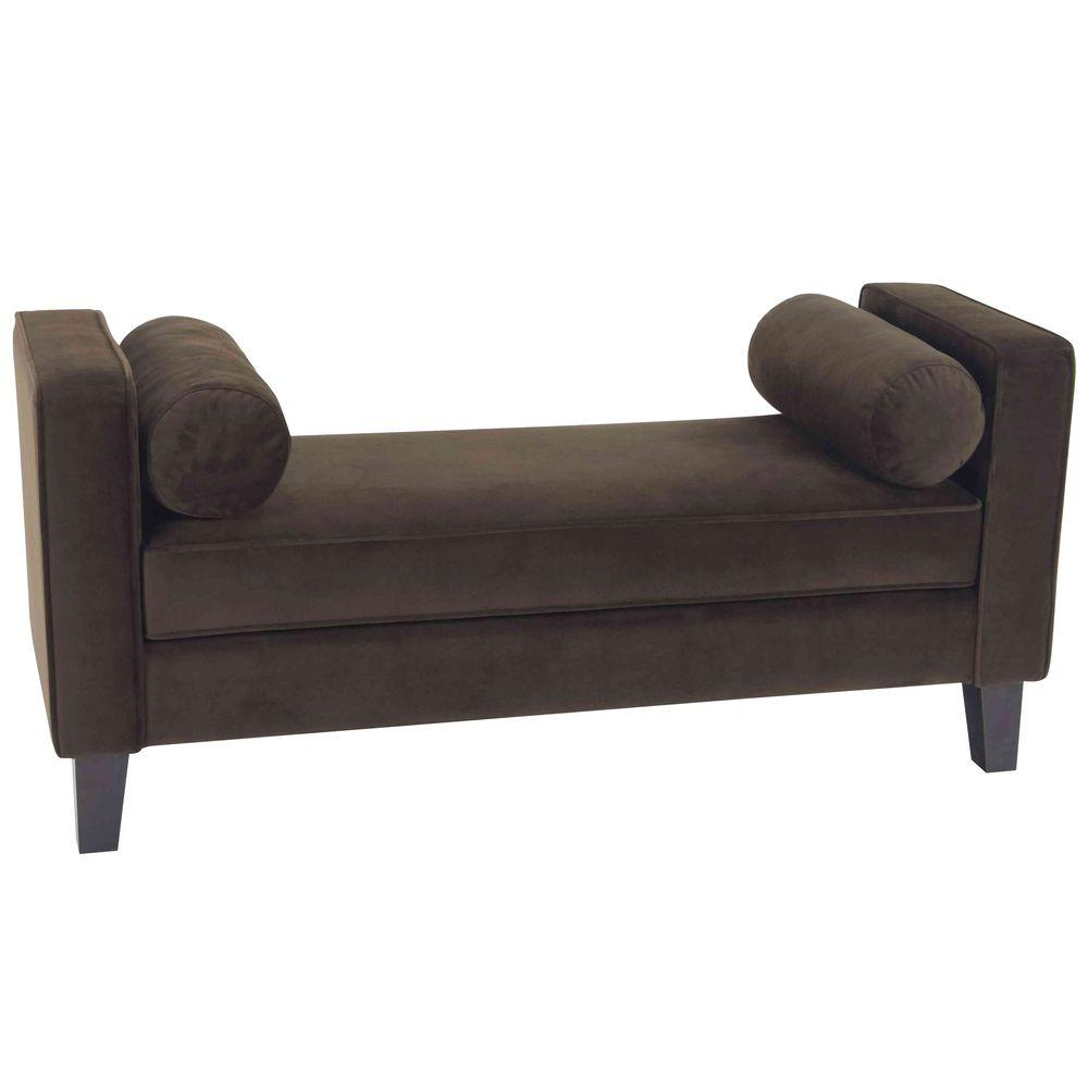 Ave Six Curves Brown Bench-CVS20-C12 - The Home Depot