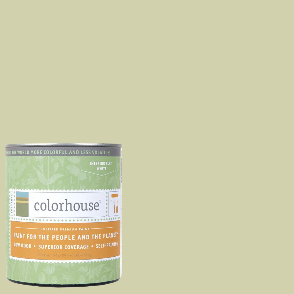 Colorhouse 1 qt. Leaf .01 Flat Interior Paint