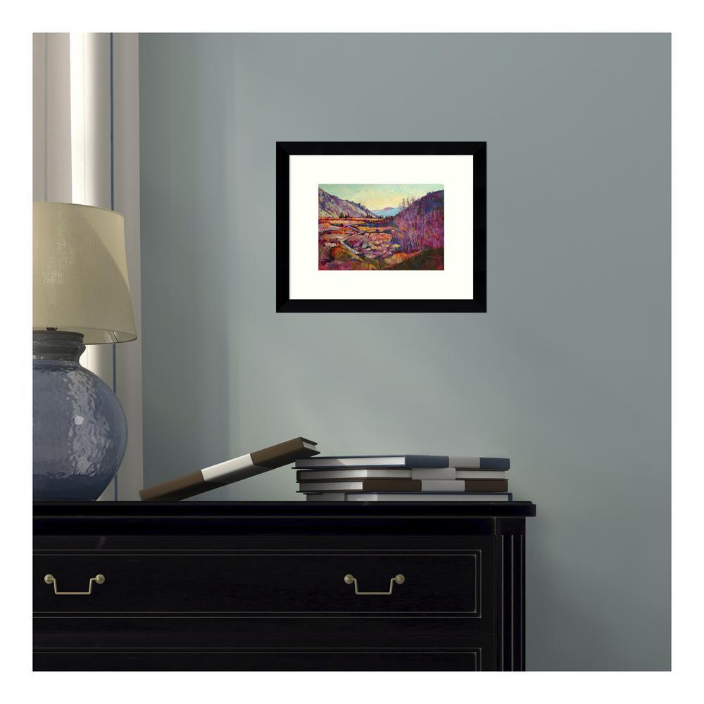 11 in. W x 9 in. H 'Sierra Shadow (Mountains)' by Erin Hanson Printed Framed Wall Art