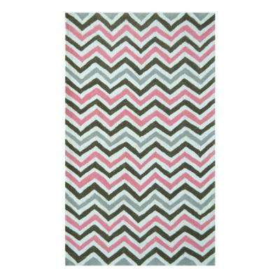Chevron Pink 5 ft. x 8 ft. Indoor Area Rug