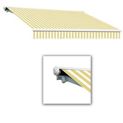 18 ft. Galveston Semi-Cassette Manual Retractable Awning (120 in. Projection) in Yellow/White
