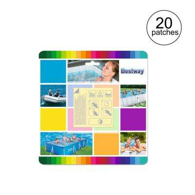 Flowclear 2.5 in. x 2.5 in. Underwater Adhesive Repair Pool Patches (20-Patches)