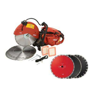 DSH 700X 70CC 14 in. Hand Held Gas Saw with 6 Diamond Blades