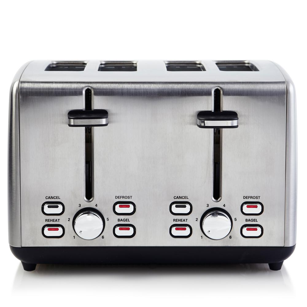Professional Series 4-Slice Stainless Steel Wide Slot Toaster