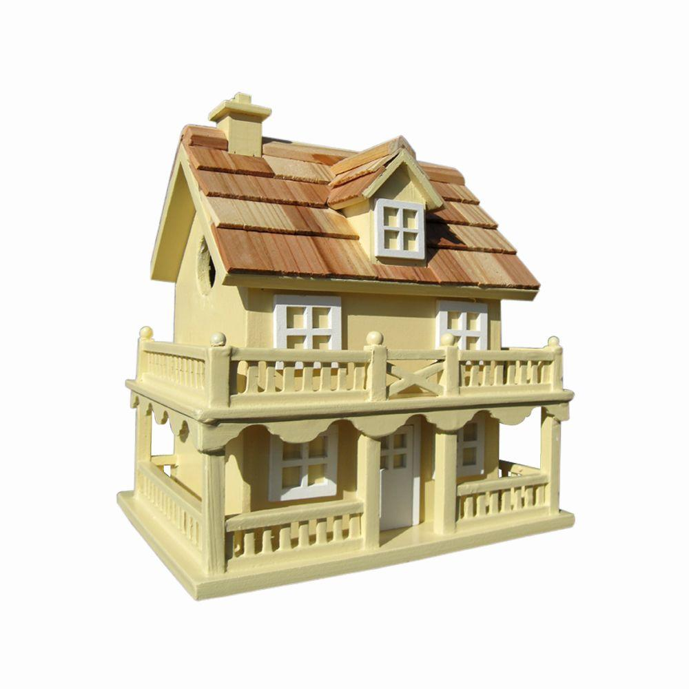 Home Bazaar Colonial Cottage Birdhouse (Yellow)