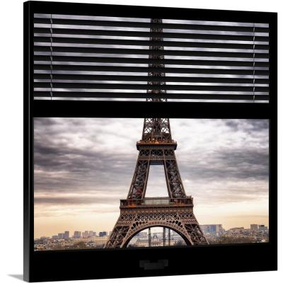 """Paris view from the window with Eiffel Tower"" by Philippe Hugonnard Canvas Wall Art"