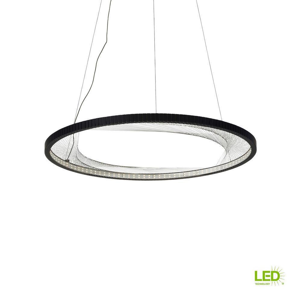 Interlace Black LED Chandelier