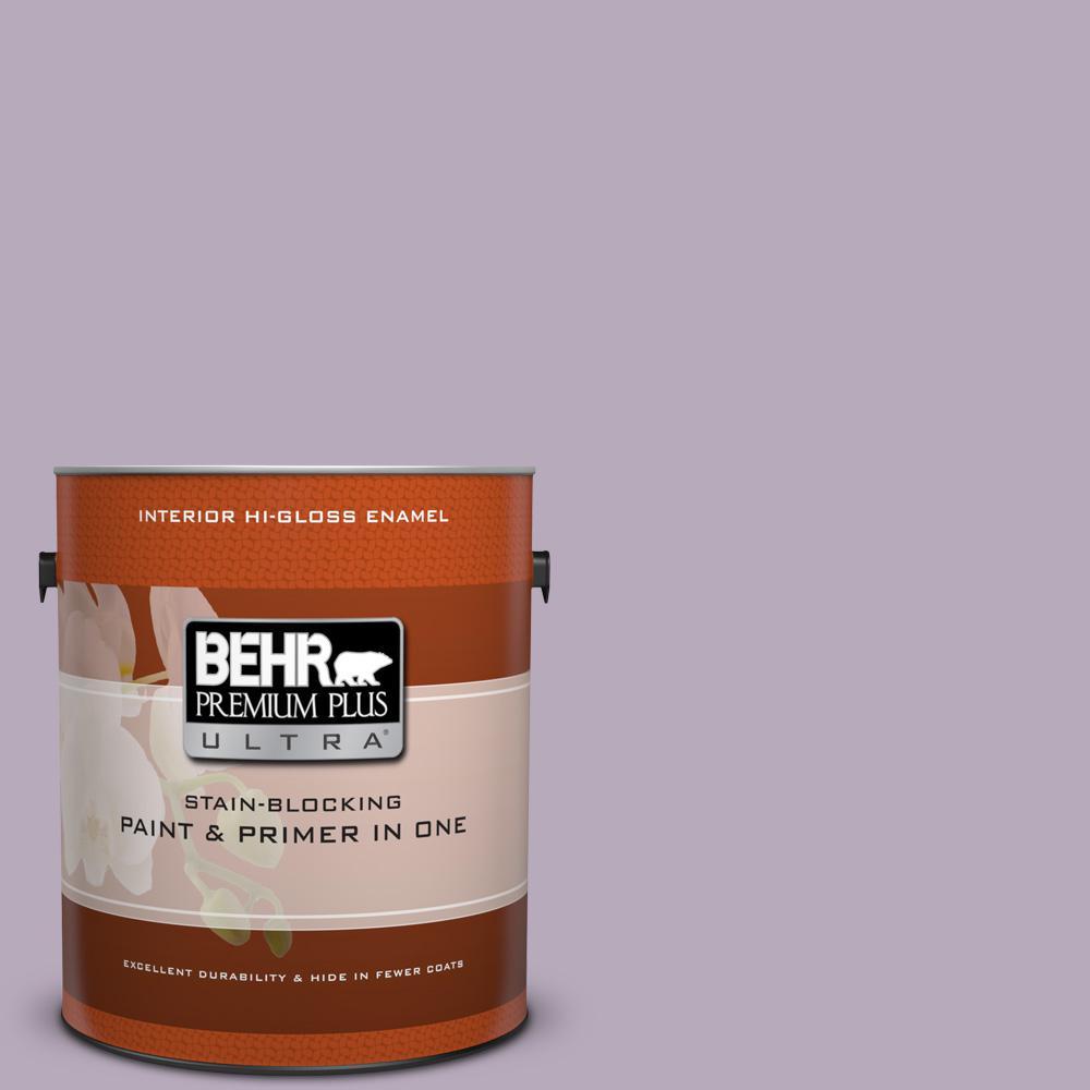 1 gal. #HDC-SP14-12 Exclusive Violet Hi-Gloss Enamel Interior Paint
