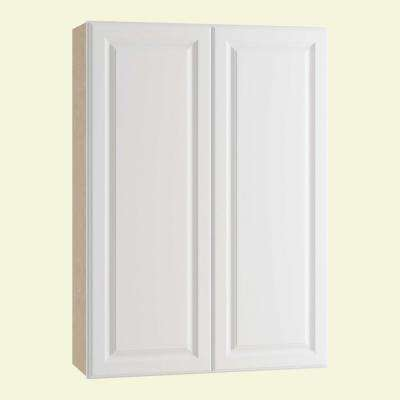 Hallmark Assembled 27x42x12 in. Wall Kitchen Cabinet with Double Doors in Arctic White