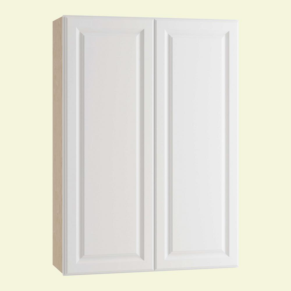 Home Decorators Collection Hallmark Assembled 33x42x12 in. Wall Kitchen Cabinet with Double Doors in Arctic White