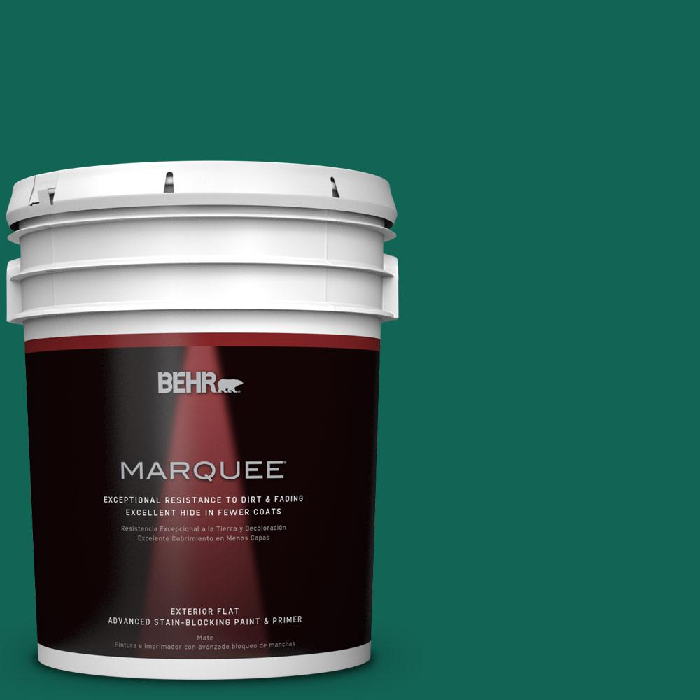 BEHR MARQUEE 5-gal. #S-H-480 Forest Rain Flat Exterior Paint
