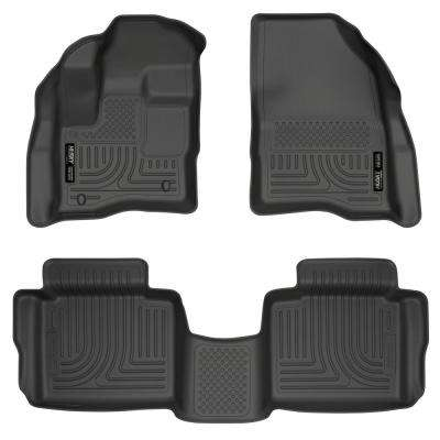 Front & 2nd Seat Floor Liners (Footwell Coverage) Fits 10-18 Taurus