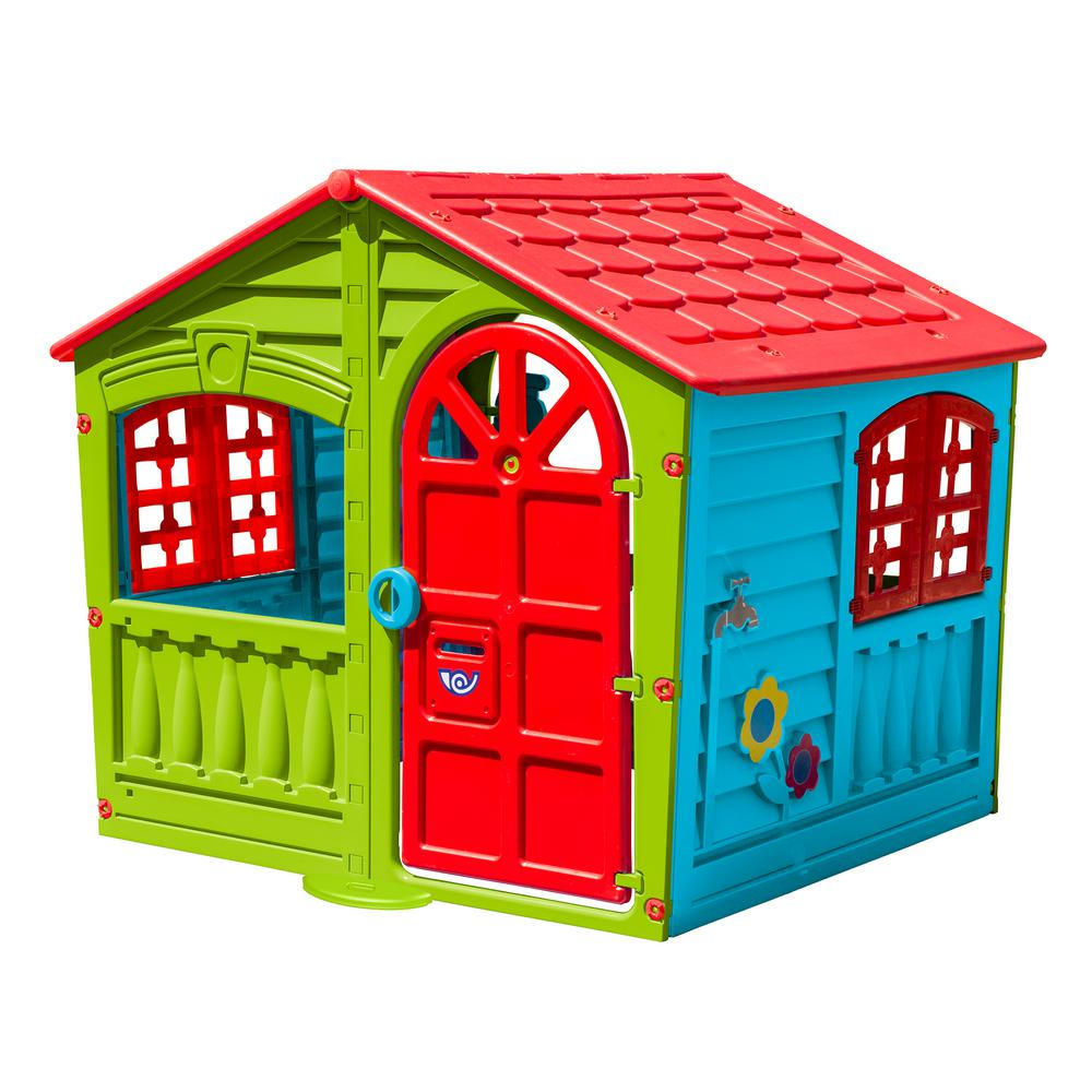 20d2aaec7 PalPlay House of Fun Playhouse in Green-M780G - The Home Depot