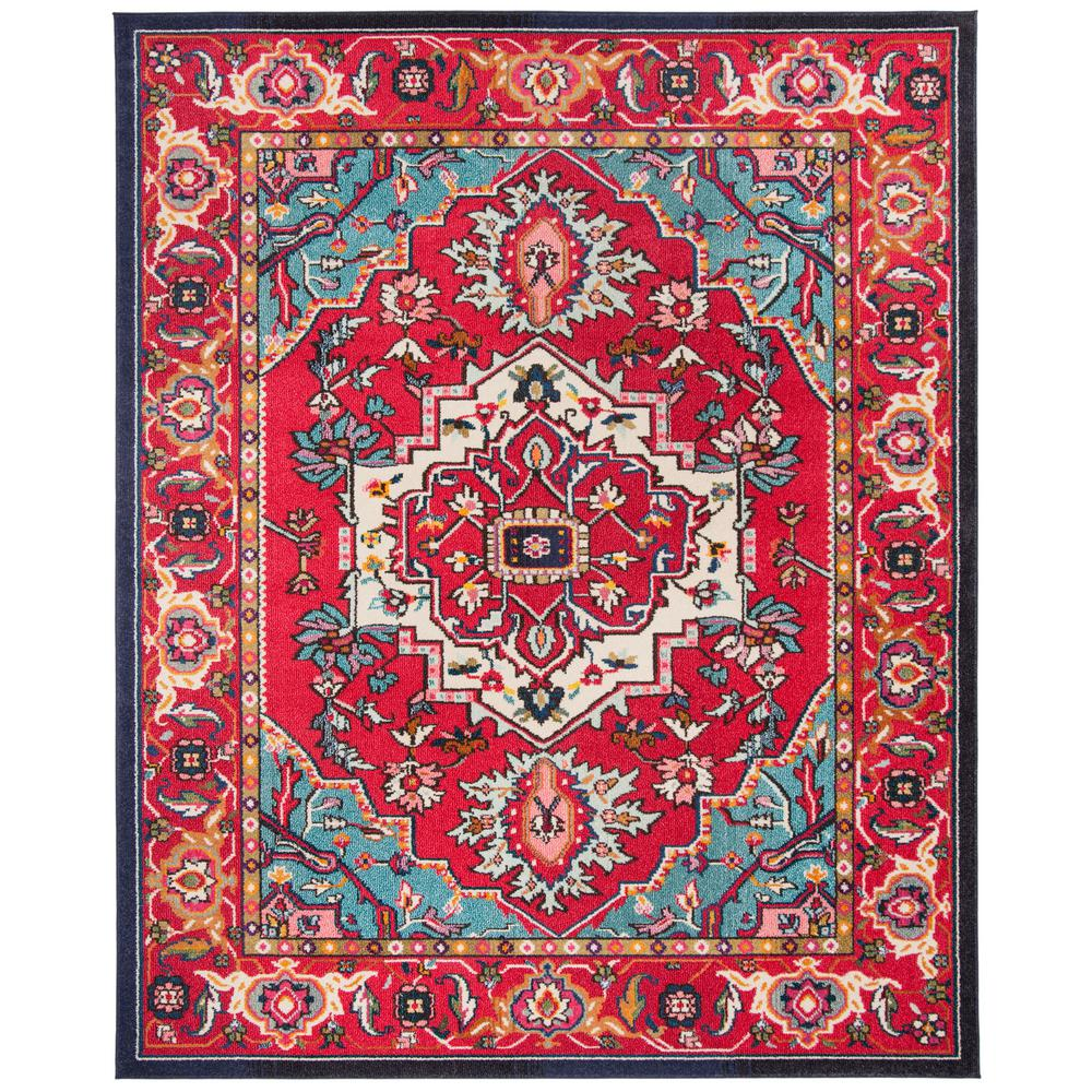 Safavieh Monaco Red/Turquoise 8 Ft. X 11 Ft. Area Rug