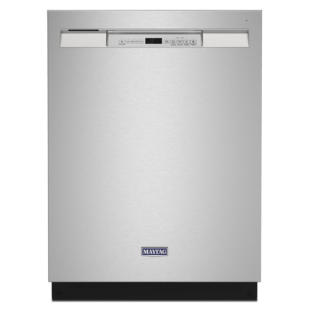 Maytag 24 in. Front Control Built-In Tall Tub Dishwasher in Fingerprint Resistant Stainless with Dual Power Filtration