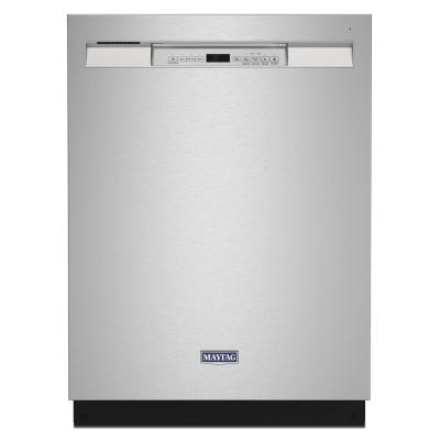 24 in. Front Control Built-In Tall Tub Dishwasher in Fingerprint Resistant Stainless with Dual Power Filtration