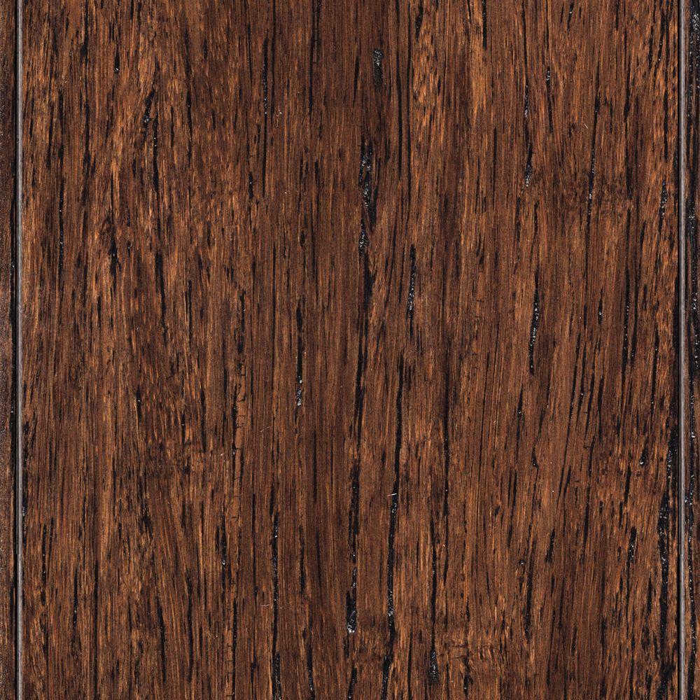 Home Legend Wire Brushed Strand Woven Tobacco 3/8 in.  x 3-7/8 in.  x 36-1/4 in. Length Solid Bamboo Flooring (23.41 sq. ft. /case)