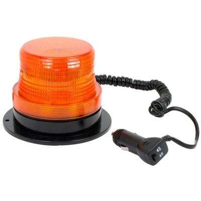 12-Volt LED Amber Emergency Strobe Beacon Light