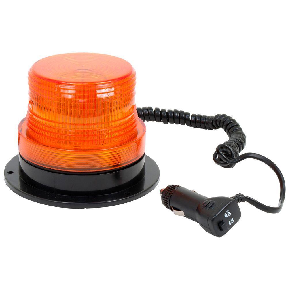 12-Volt LED Amber Emergency Strobe Beacon Light