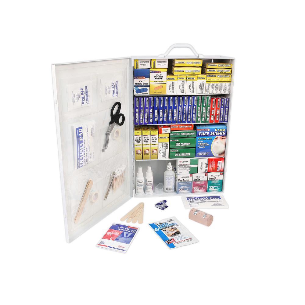 1110-Piece 4 Shelf OSHA/ANSI First Aid Cabinet