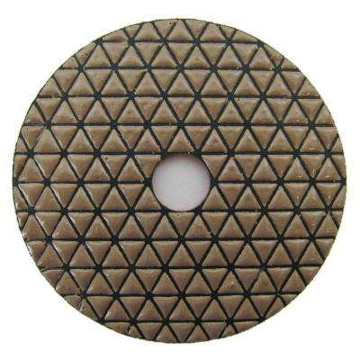 4 in. #3000 Grit Dry Diamond Polishing Pad for Stone