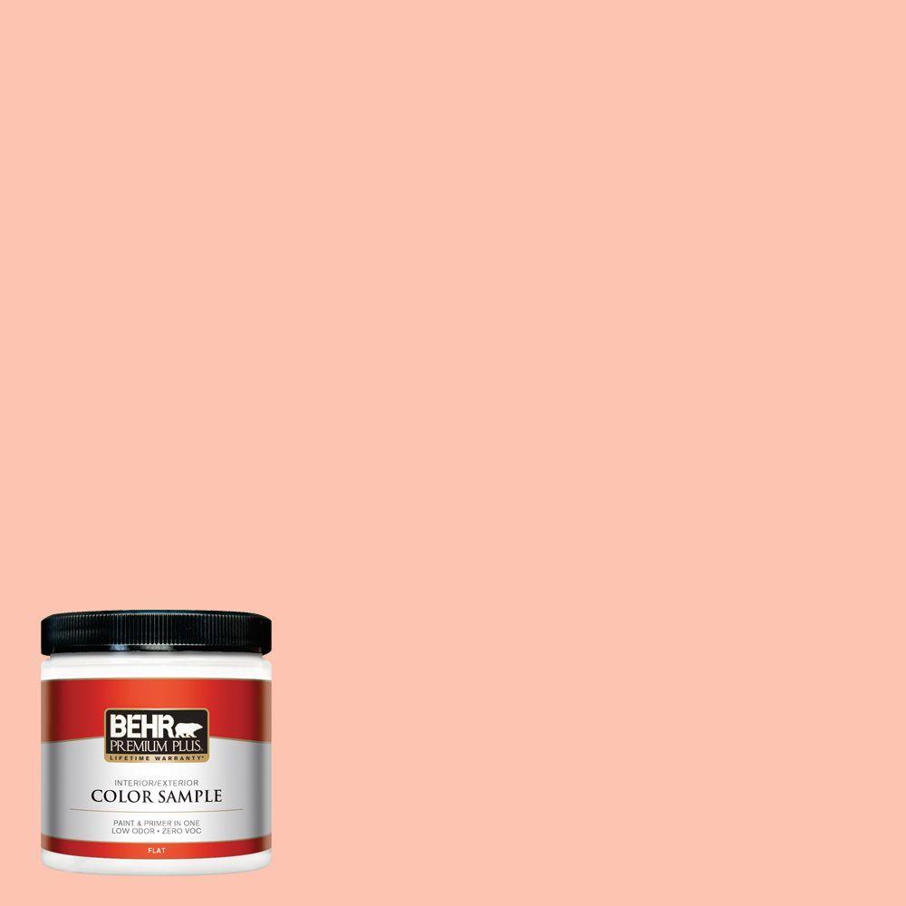 8 oz. #210A-3 Malibu Peach Interior/Exterior Paint Sample