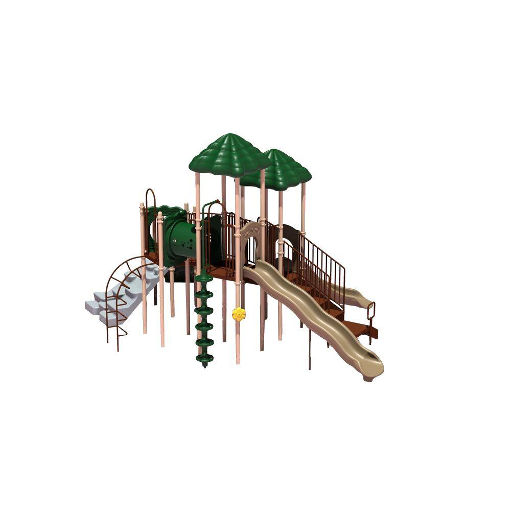 Ultra Play UPlay Today Clingman's Dome (Natural) Commercial Playset with Ground Spike