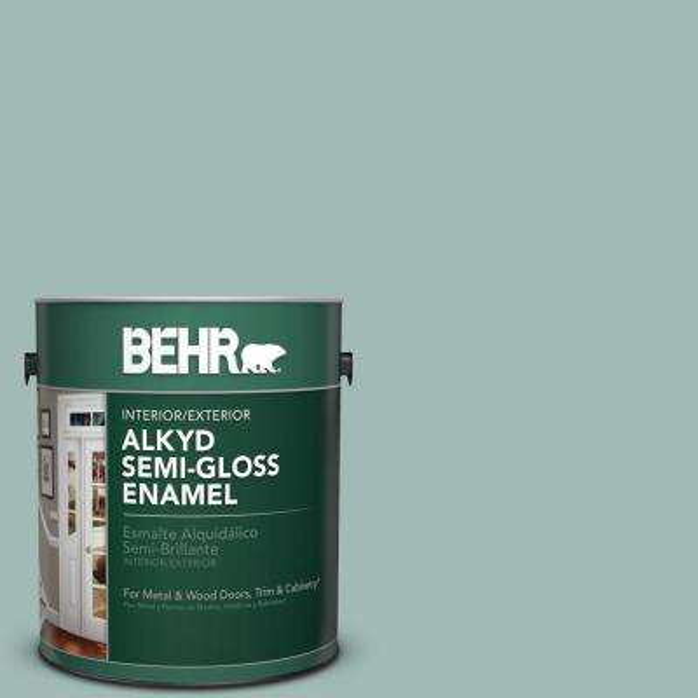 1 gal. #S430-3 Garden Twilight Semi-Gloss Enamel Alkyd Interior/Exterior Paint