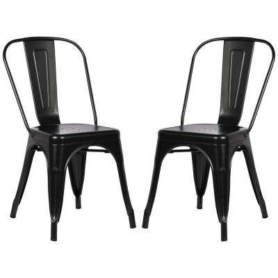 Trattoria Black Side Chair (Set of 2)
