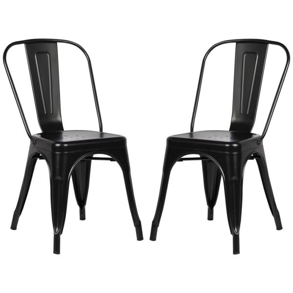 Poly and Bark Trattoria Black Side Chair (Set of 2) EM-112-BLK-X2