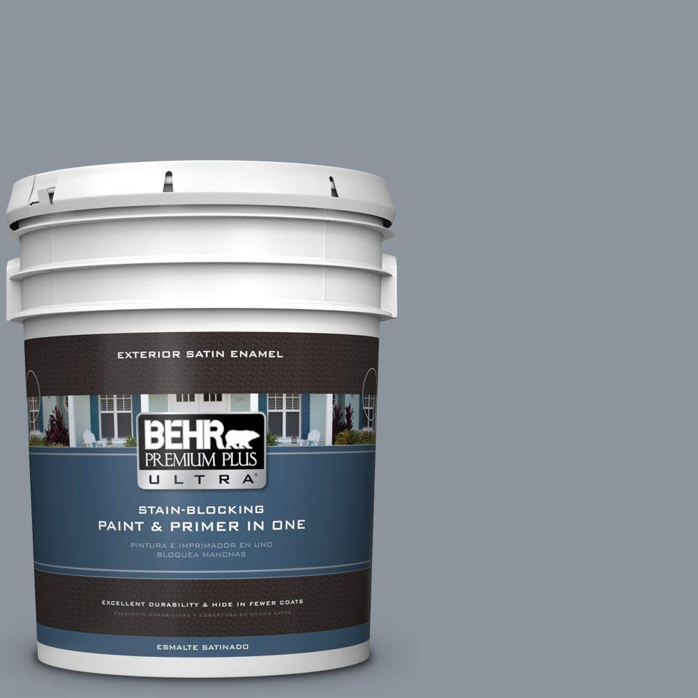 BEHR Premium Plus Ultra 5-gal. #BXC-88 Cool December Satin Enamel Exterior Paint