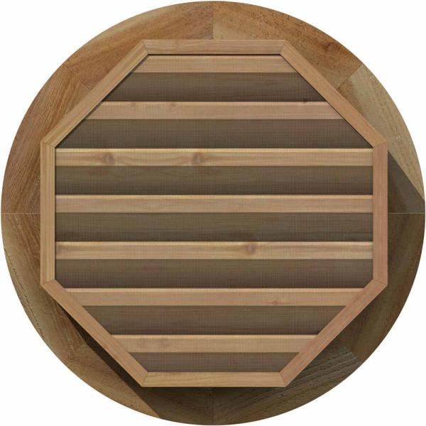 Ekena Millwork 33 X 33 Round Unfinished Rough Sawn Western Red Cedar Wood Paintable Gable Louver Vent Functional Gvwro28x2801rfuwr The Home Depot